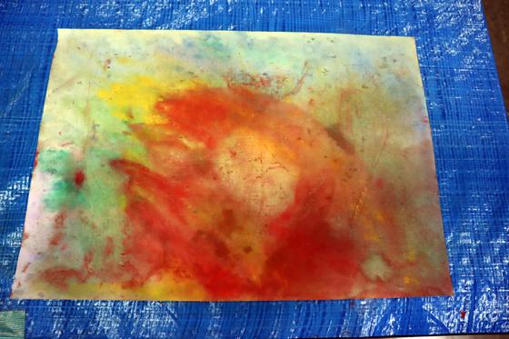 やと子ども美術教室 ~ 水を描く ~_e0222340_1526454.jpg