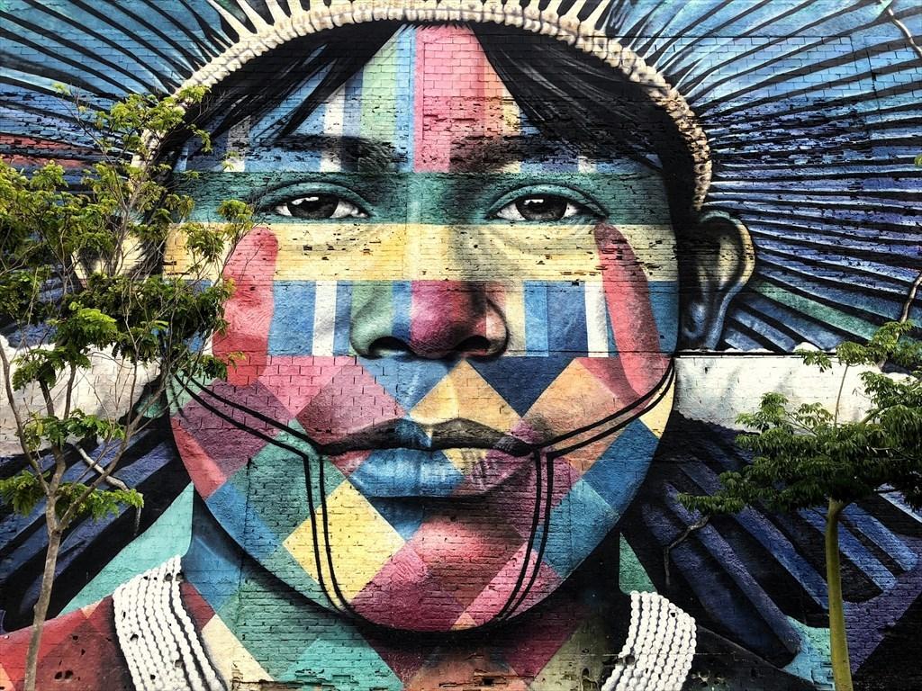 中南米の旅/53 オリンピック記念に描かれた巨大壁画@リオ_a0092659_17045618.jpg