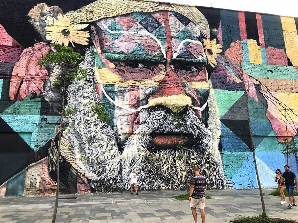 中南米の旅/53 オリンピック記念に描かれた巨大壁画@リオ_a0092659_17054582.jpg