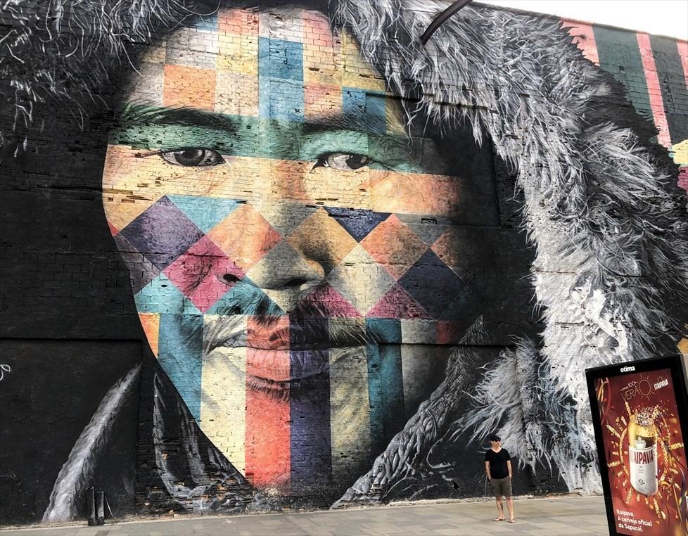 中南米の旅/53 オリンピック記念に描かれた巨大壁画@リオ_a0092659_17065414.jpg