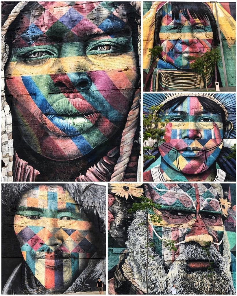 中南米の旅/53 オリンピック記念に描かれた巨大壁画@リオ_a0092659_17140070.jpg
