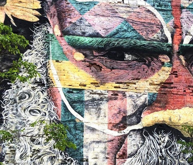 中南米の旅/53 オリンピック記念に描かれた巨大壁画@リオ_a0092659_17163600.jpg