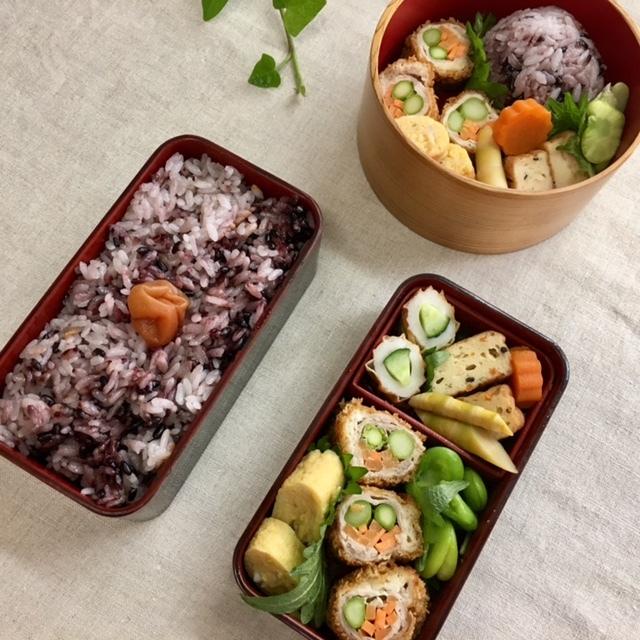 lunch box   ×4    暑さ対策_a0165160_14253945.jpg