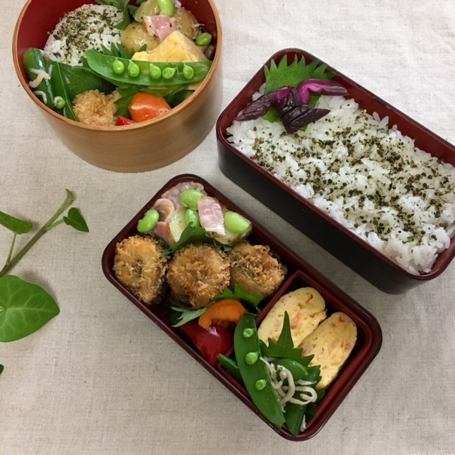 lunch box   ×4    暑さ対策_a0165160_14391026.jpg