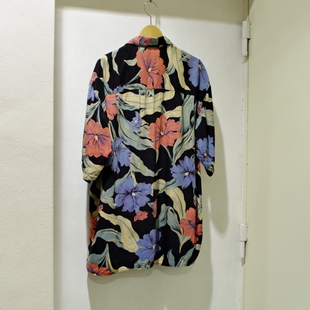 "1980-90s Old GAP Rayon Hawaiian Shirt ""Black\""_d0257333_20371322.jpg"