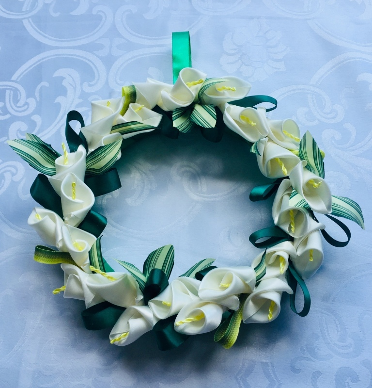 Calla Lily Wreath  カラーリリーリース_c0196240_08473515.jpeg