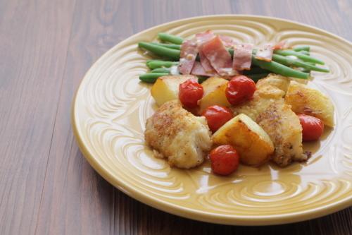 タラとトマトとジャガイモのソテー_f0220354_15172118.jpeg
