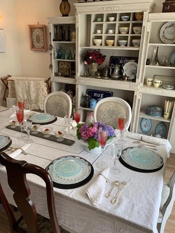 マリーアントワネット気分で。hidamari 初夏のテーブルとフランス式ティーパーティー_e0237680_11294367.jpg