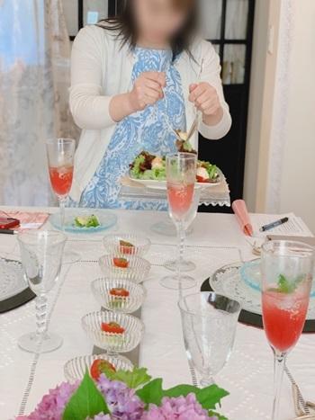 マリーアントワネット気分で。hidamari 初夏のテーブルとフランス式ティーパーティー_e0237680_11335934.jpg