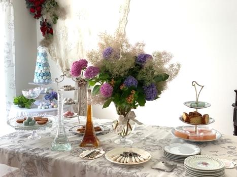 マリーアントワネット気分で。hidamari 初夏のテーブルとフランス式ティーパーティー_e0237680_11380096.jpg