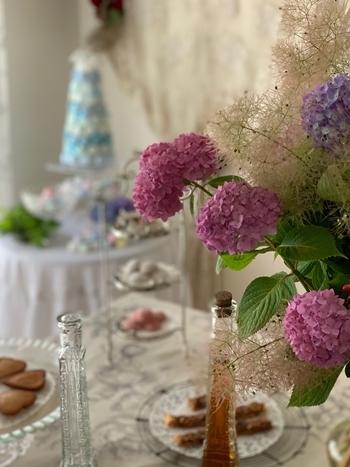 マリーアントワネット気分で。hidamari 初夏のテーブルとフランス式ティーパーティー_e0237680_11383111.jpg