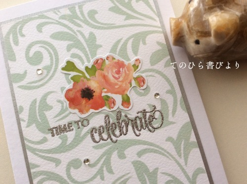 Let's create a weekly card & show off! #23 結婚祝カード_d0285885_10045431.jpeg