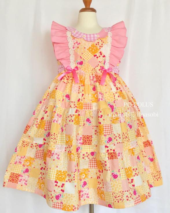 2019春夏♡子供服オーダー会【お花のティアード・ドレス】_c0153987_16493701.jpg
