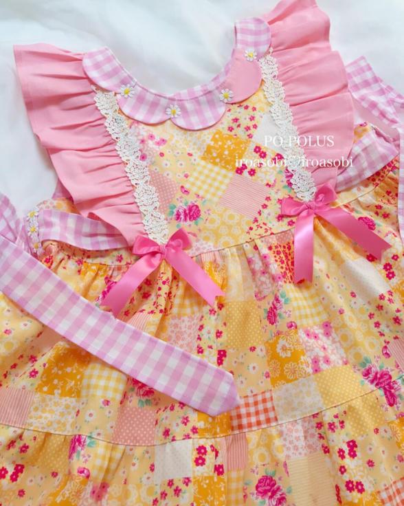 2019春夏♡子供服オーダー会【お花のティアード・ドレス】_c0153987_16520671.jpg