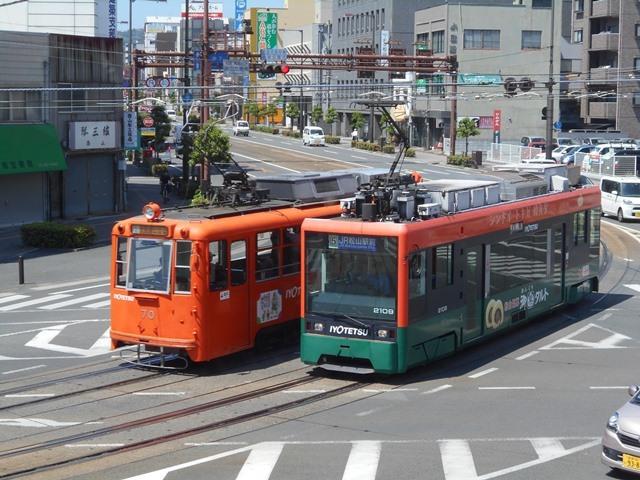 観光の町松山@松山の夜と昼、綺麗な街並み松山市・・・坊ちゃん列車と路面電車_d0181492_17464324.jpg