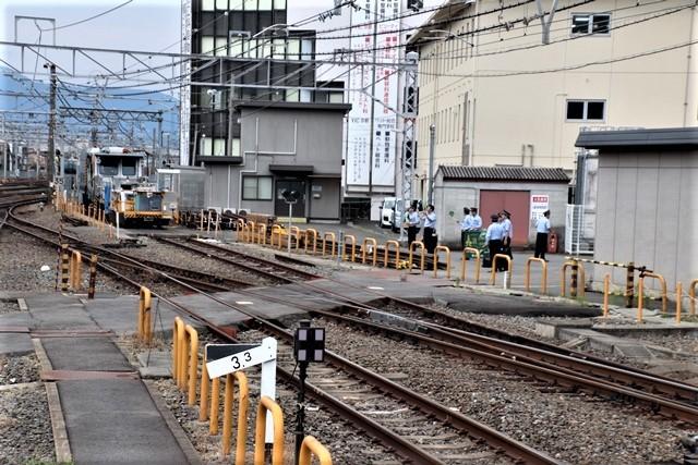 藤田八束の鉄道写真@京都駅で瑞風をお迎えしました。京都駅駅員さんと瑞風、京都駅歓迎の様子・・・トワイライトエキスプレス瑞風_d0181492_18105123.jpg