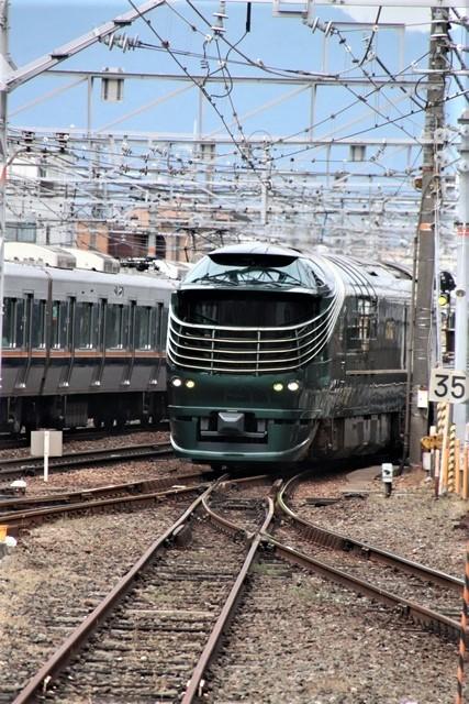 藤田八束の鉄道写真@京都駅で瑞風をお迎えしました。京都駅駅員さんと瑞風、京都駅歓迎の様子・・・トワイライトエキスプレス瑞風_d0181492_18111555.jpg