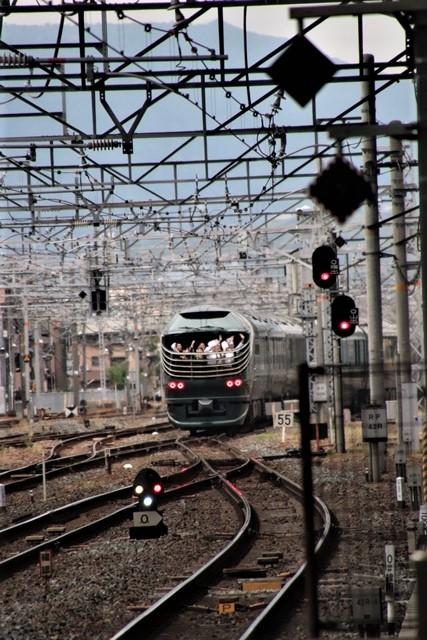 藤田八束の鉄道写真@京都駅で瑞風をお迎えしました。京都駅駅員さんと瑞風、京都駅歓迎の様子・・・トワイライトエキスプレス瑞風_d0181492_18154600.jpg