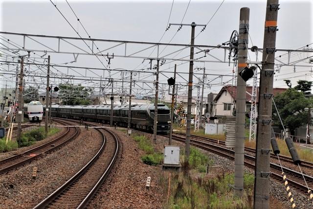 藤田八束の鉄道写真@京都駅で瑞風をお迎えしました。京都駅駅員さんと瑞風、京都駅歓迎の様子・・・トワイライトエキスプレス瑞風_d0181492_18165013.jpg