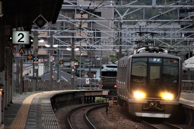 藤田八束の鉄道写真@京都駅で瑞風をお迎えしました。京都駅駅員さんと瑞風、京都駅歓迎の様子・・・トワイライトエキスプレス瑞風_d0181492_18172088.jpg