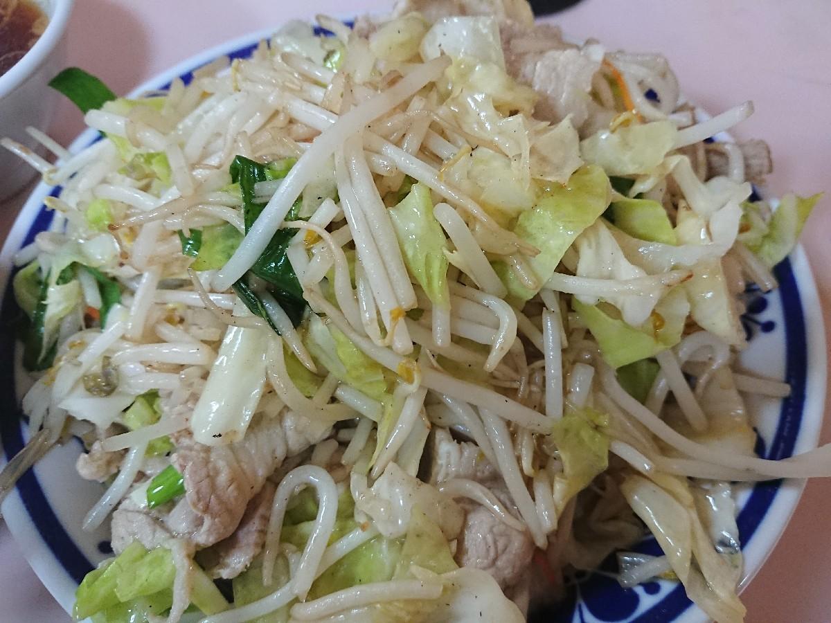6/11  やまだ  肉野菜炒め定食¥670 @御茶ノ水_b0042308_18460914.jpg
