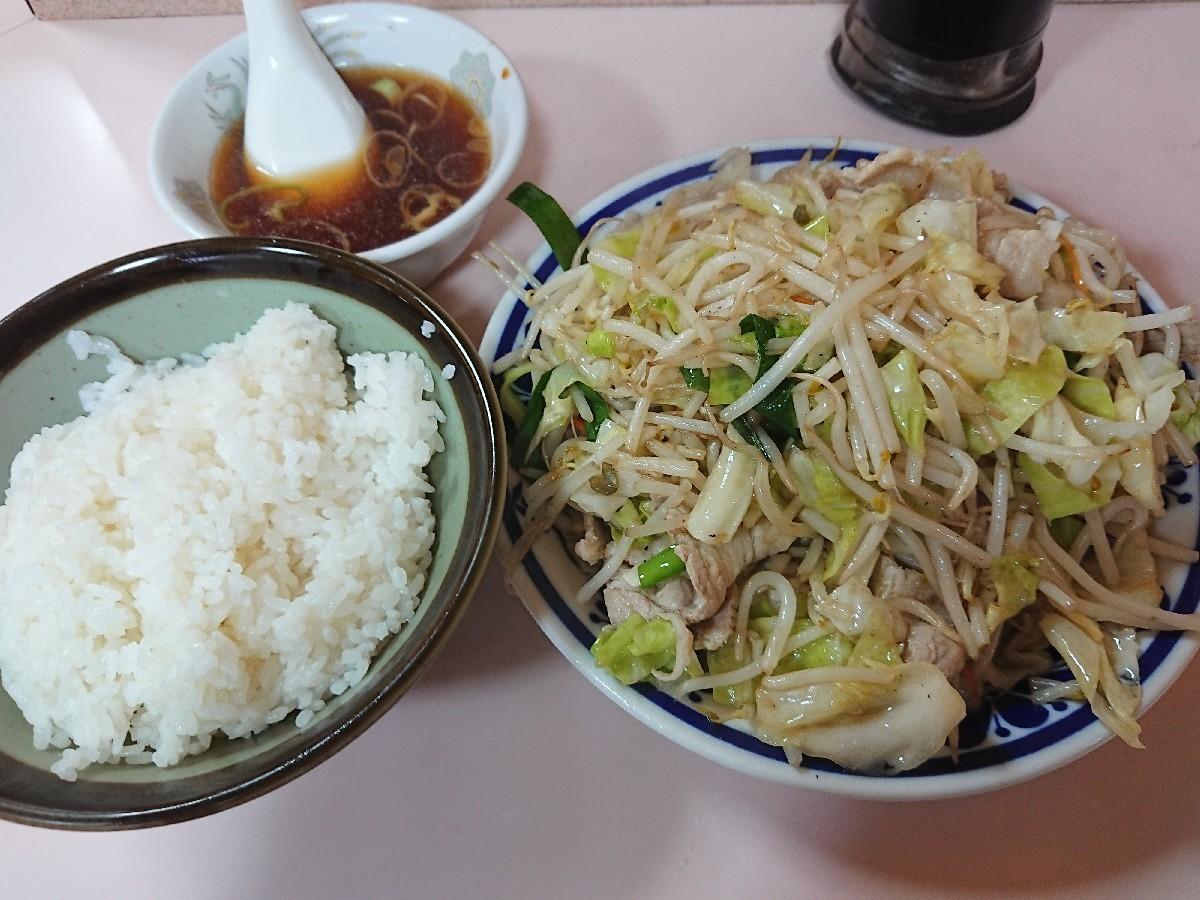 6/11  やまだ  肉野菜炒め定食¥670 @御茶ノ水_b0042308_18460916.jpg