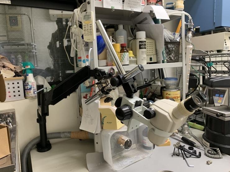 モニターアームに実体顕微鏡をつけてみる その2_b0112648_13581455.jpg