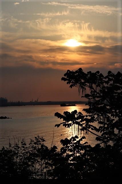 藤田八束の鉄道写真@東北八戸線にて、夕日の蕪島は絶景明日の幸せを祈りました・・・夕日がくれた元気のパワー_d0181492_09593603.jpg
