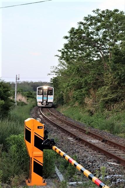 藤田八束の鉄道写真@東北八戸線にて、夕日の蕪島は絶景明日の幸せを祈りました・・・夕日がくれた元気のパワー_d0181492_10012545.jpg