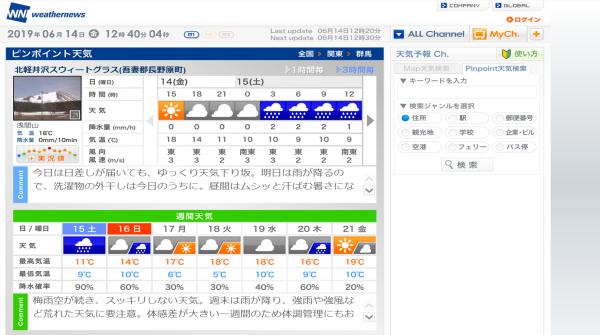 今週末の天気と気温(2019年6月14日):長袖必須です_b0174425_12460658.png