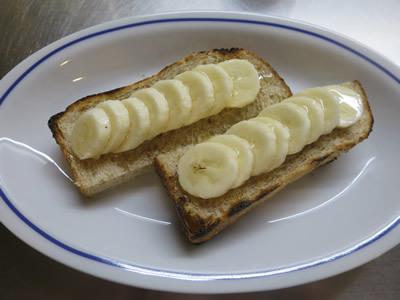 バナナ蜂蜜トースト_e0262651_05482457.jpg