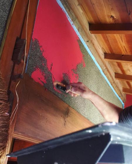 縁側のリノベーション。〜 古いじゅらく壁に珪藻土を塗る〜_d0077603_08023714.jpg