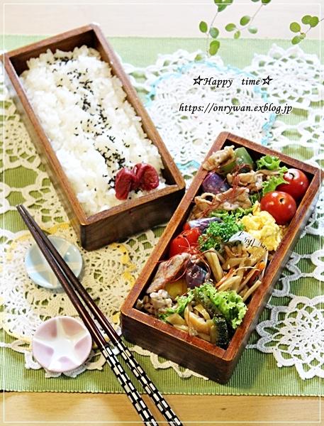 ピリ辛肉野菜炒め弁当とアジフライ♪_f0348032_18410922.jpg