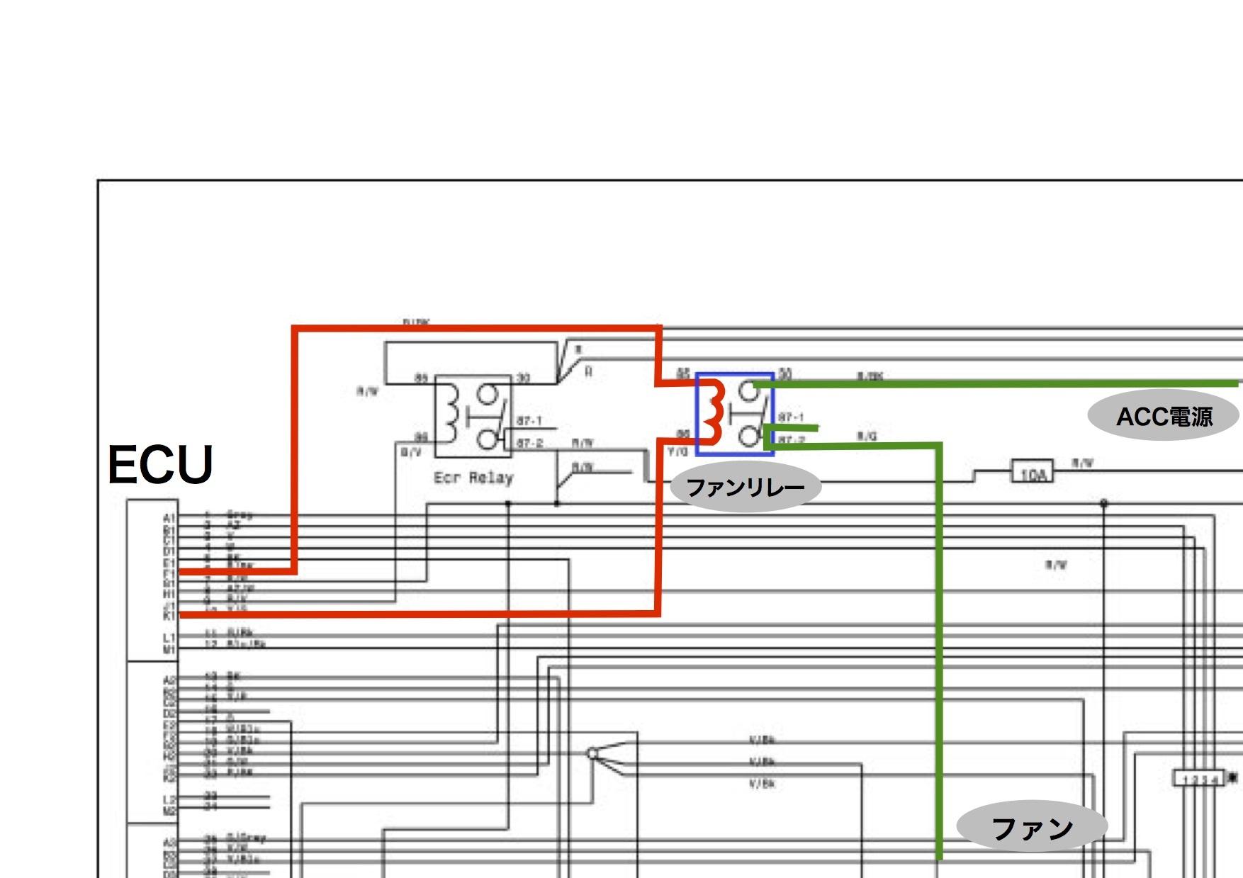 【DB7】サーミスタ回路 ACC電源がアレの件。原因はリレーか!?_e0159646_04275418.jpg