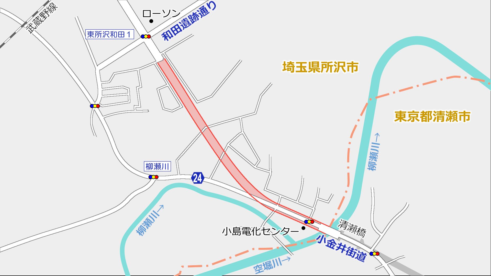 所沢3・3・2号東京狭山線 下安松工区 進捗状況2019.4 : 俺の居場所2