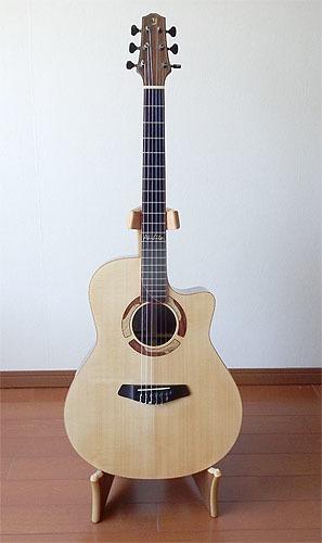 ヨコヤマギター「AR-WR #300」 にガット弦を張ってみた!_c0137404_19275044.jpg