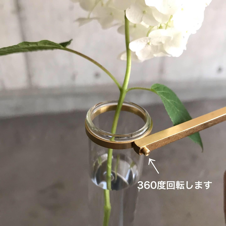 真鍮×ガラス クランプフラワーベース_e0228408_12290827.jpg
