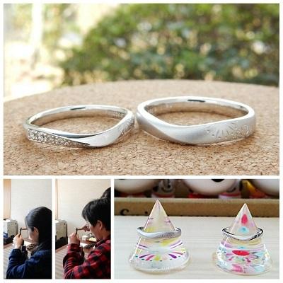 花火の結婚指輪 オーダーメイド | 岡山_d0237570_12462094.jpg