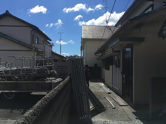 和合 Sさんの家 軒天貼替え工事 ★仮設工事_d0205883_11232196.jpg