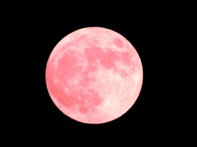 """""""ストロベリームーン""""という名の満月は、好きな人と一緒に…。^^~昨日の月のおはなしも~_b0298740_14074232.jpg"""