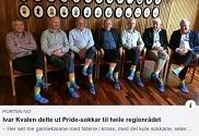 虹色の靴下をはいた市長さんたち(ノルウェー)_c0166264_11263620.jpg