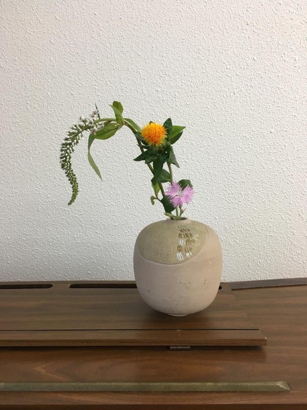 お茶花、盛花のお稽古_c0195496_17330966.jpg