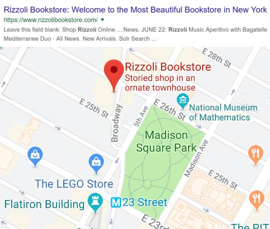 自称「ニューヨークでもっとも美しい本屋」Rizzoli Bookstore_b0007805_10202958.jpg