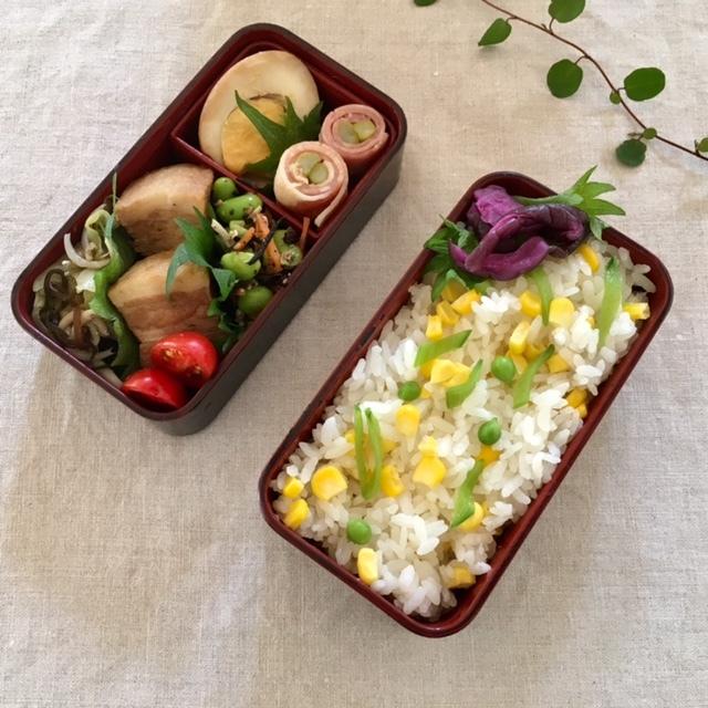 lunch box ×4 残り物を詰めて♪_a0165160_22530101.jpg