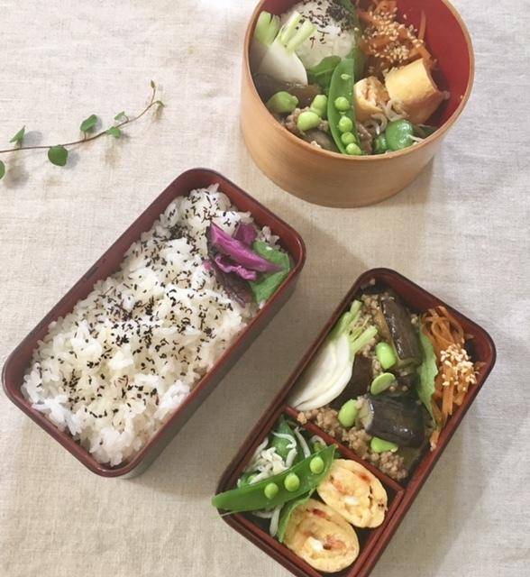 lunch box ×4 残り物を詰めて♪_a0165160_22571662.jpg