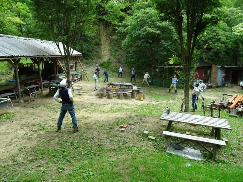 階段補修・草刈り・間伐 里山作業の継続・・・孝子の森_c0108460_18321179.jpg