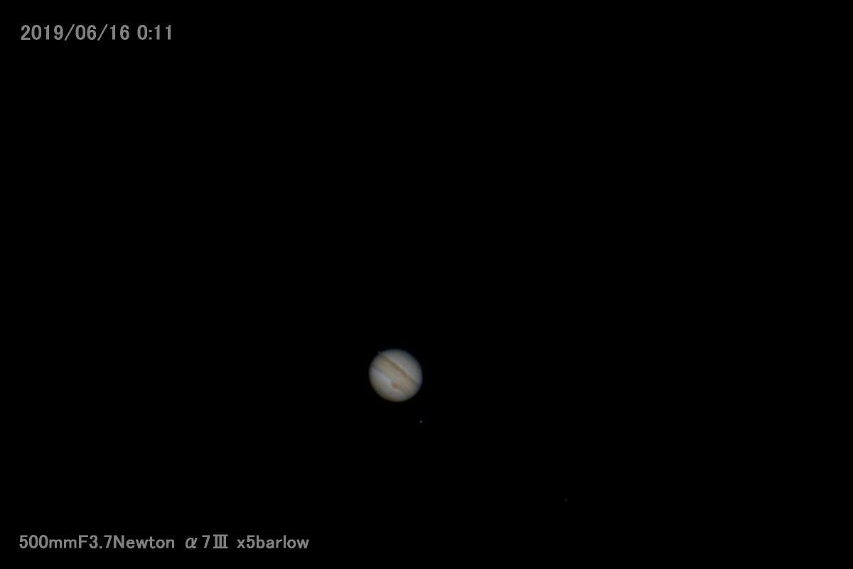ケレス食を待つ間にα7Ⅲで撮った木星_a0095470_22063448.jpg