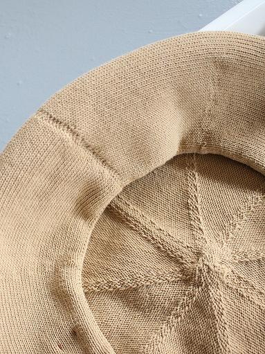unfil high twist cotton knit small beret _b0139281_1924417.jpg