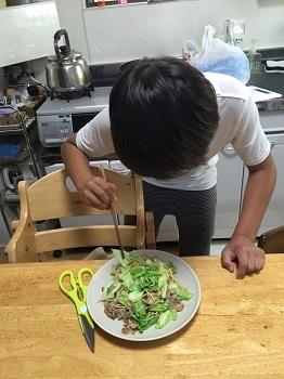 料理男子!! チビ'ズ キッチン~~♪_e0123286_19372375.jpg