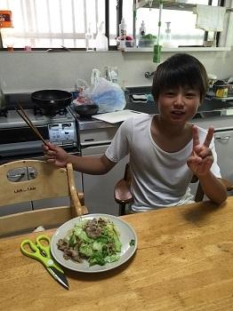 料理男子!! チビ'ズ キッチン~~♪_e0123286_19375430.jpg